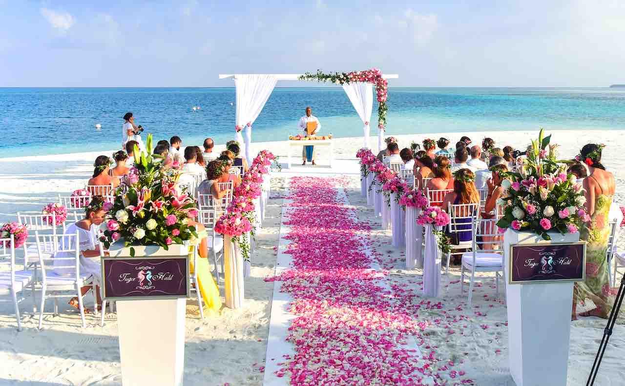 ビーチの結婚式
